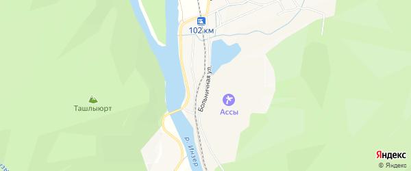 СНТ Ассы на карте Больничной улицы с номерами домов