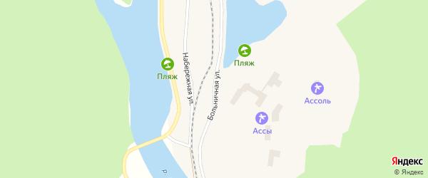 Больничная улица на карте села Ассов с номерами домов