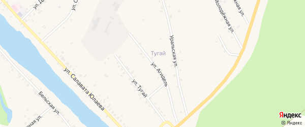 Улица Агидель на карте деревни Байназарово с номерами домов