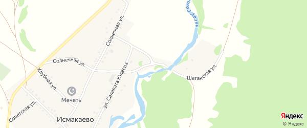 Улица Салавата Юлаева на карте села Исмакаево с номерами домов