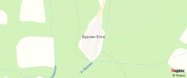 Карта деревни Бурзяна-Елги в Башкортостане с улицами и номерами домов