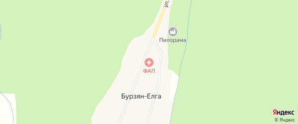 Улица Баракал на карте деревни Бурзяна-Елги с номерами домов