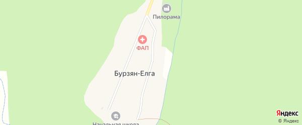 Улица С.Юлаева на карте деревни Бурзяна-Елги с номерами домов