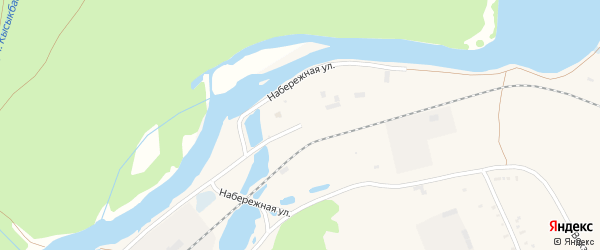 Набережная улица на карте села Инзера с номерами домов