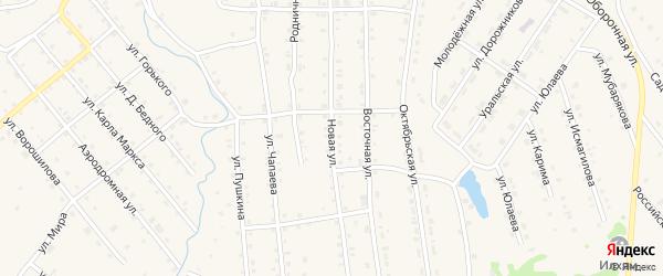 Новая улица на карте села Инзера с номерами домов