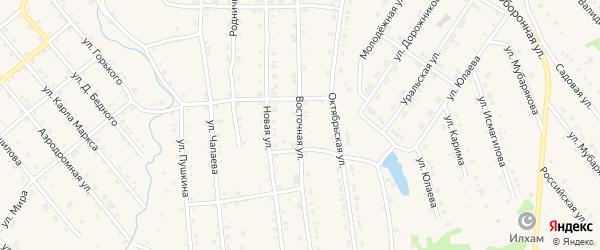 Восточная улица на карте села Инзера с номерами домов