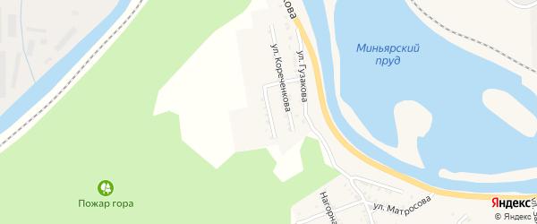 Комсомольская улица на карте Миньяра с номерами домов
