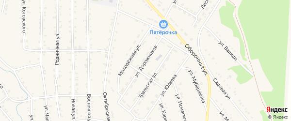 Улица Дорожников на карте села Инзера с номерами домов