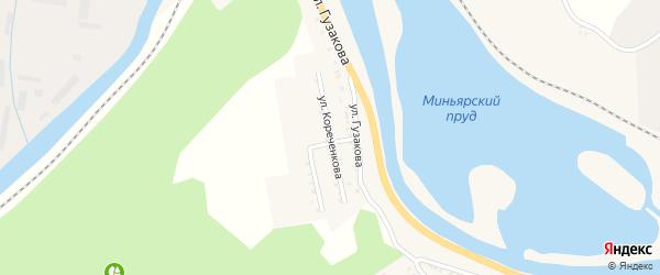 Улица Кореченкова на карте Миньяра с номерами домов