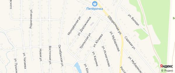 Уральская улица на карте села Инзера с номерами домов