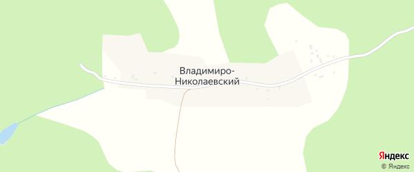 Владимиро-Никольская улица на карте Владимиро-Николаевского хутора с номерами домов
