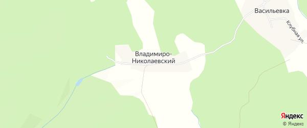 Карта Владимиро-Николаевского хутора в Башкортостане с улицами и номерами домов