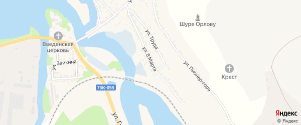 Улица 8 Марта на карте Миньяра с номерами домов