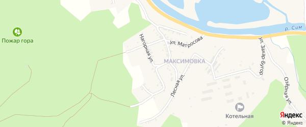 Нагорная улица на карте Миньяра с номерами домов