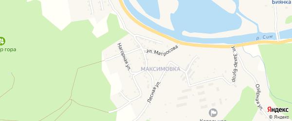 Улица Орлова на карте Миньяра с номерами домов
