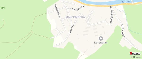 Лесная улица на карте Миньяра с номерами домов