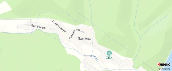 Карта села Заимки в Башкортостане с улицами и номерами домов