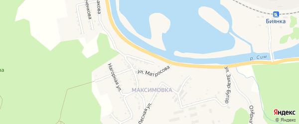 Улица Матросова на карте Миньяра с номерами домов