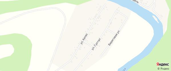 Улица Кепес на карте деревни Старомунасипово с номерами домов
