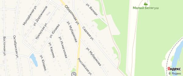 Садовая улица на карте села Инзера с номерами домов