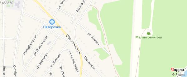 Улица З.Валиди на карте села Инзера с номерами домов