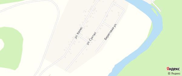 Улица Суктал на карте деревни Старомунасипово с номерами домов