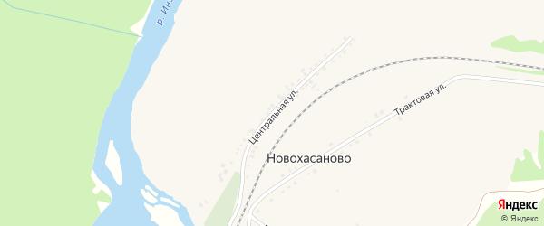 Центральная улица на карте села Новохасаново с номерами домов