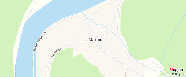 Улица Мира на карте деревни Матавлы с номерами домов