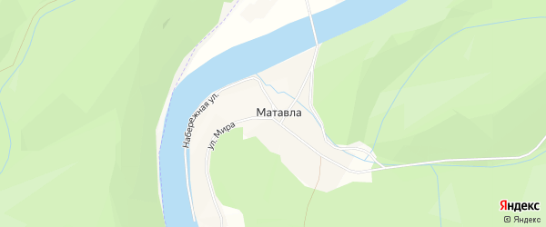 Карта деревни Матавлы в Башкортостане с улицами и номерами домов