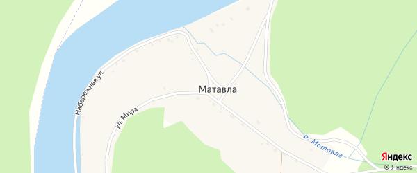 Набережная улица на карте деревни Матавлы с номерами домов