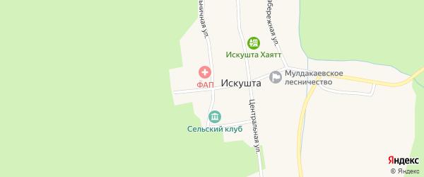 Школьная улица на карте села Искушты с номерами домов