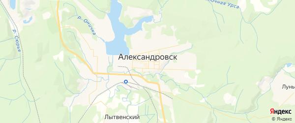 Карта Александровска с районами, улицами и номерами домов: Александровск на карте России