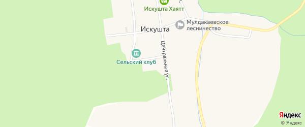 Клубная улица на карте села Искушты с номерами домов