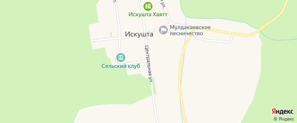 Центральная улица на карте деревни Карагайлы с номерами домов