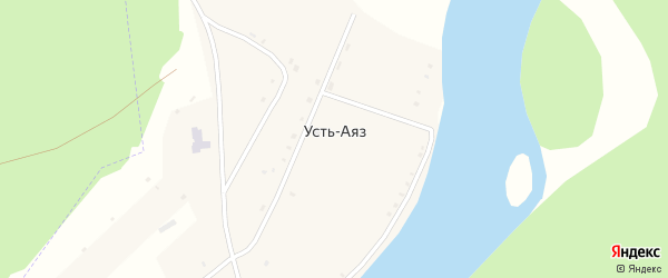 Комсомольская улица на карте деревни Устя-Аяза с номерами домов