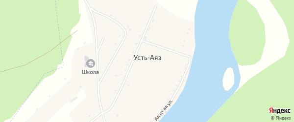 Аязская улица на карте деревни Устя-Аяза с номерами домов