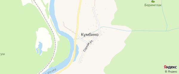 Центральная улица на карте села Кумбино с номерами домов