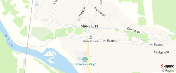 Новая улица на карте села Манышта с номерами домов
