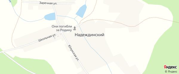 Заречная улица на карте Надеждинского хутора с номерами домов
