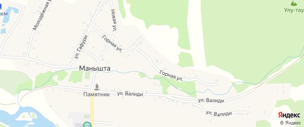 Горная улица на карте села Манышта с номерами домов