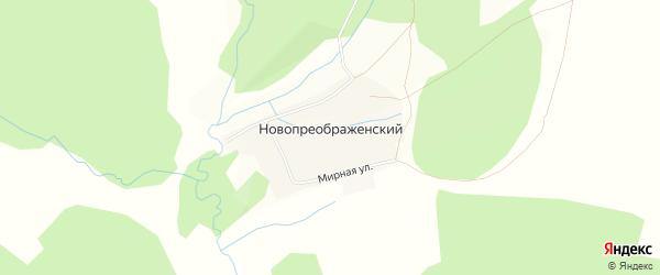 Карта Новопреображенского хутора в Башкортостане с улицами и номерами домов