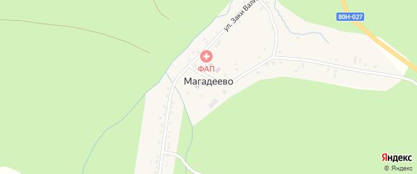 Улица Шакирьяна Мухамедьянова на карте деревни Магадеево с номерами домов
