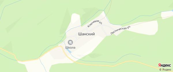 Карта деревни Шанского в Башкортостане с улицами и номерами домов