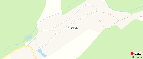 Лесническая улица на карте деревни Шанского с номерами домов