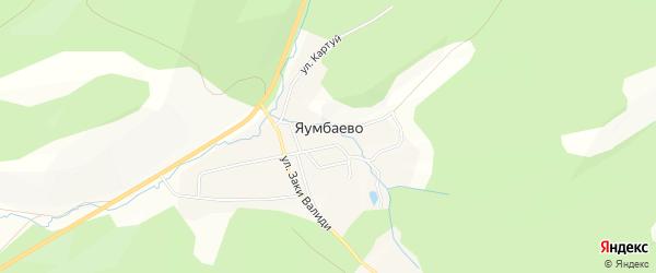 Карта деревни Яумбаево в Башкортостане с улицами и номерами домов
