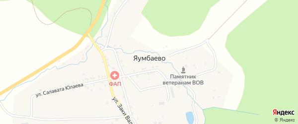 Улица Кайнуй на карте деревни Яумбаево с номерами домов