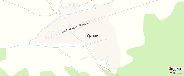 Улица Мусы Муртазина на карте деревни Урняка с номерами домов