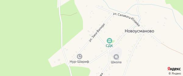 Улица Заки Валиди на карте деревни Новоусманово с номерами домов