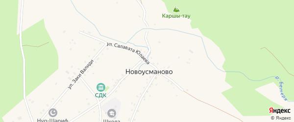 Улица Салавата Юлаева на карте деревни Новоусманово с номерами домов