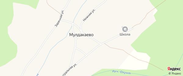 Верхняя улица на карте села Мулдакаево с номерами домов